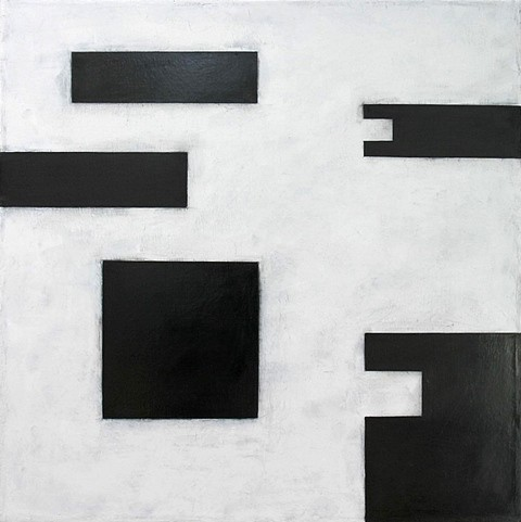 Allan Graham, Redacted Self 2011, oil and graphite on canvas