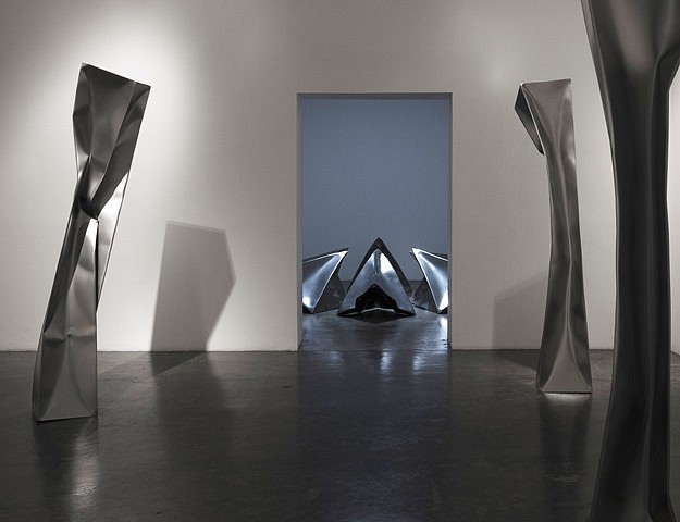 Ewerdt Hilgemann, Installation View Exhibition Samuel Freeman Gallery, Santa Monica, Ca 2010, stainless steel
