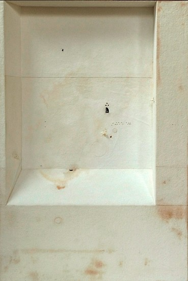 Jorge Usan, Chapell II 2010, pencil, acrylic, ink, treated matt on aluminum