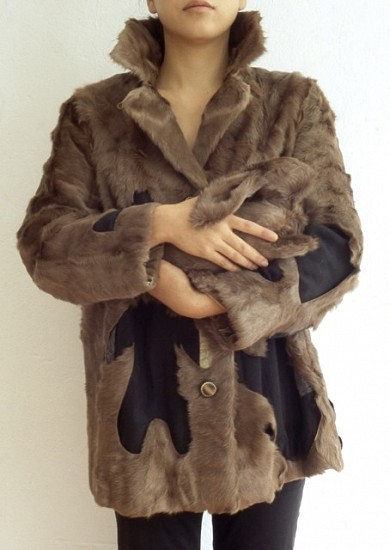 Yukiko Terada, My Bunny 2005, fur coat, thread, cotton, picture