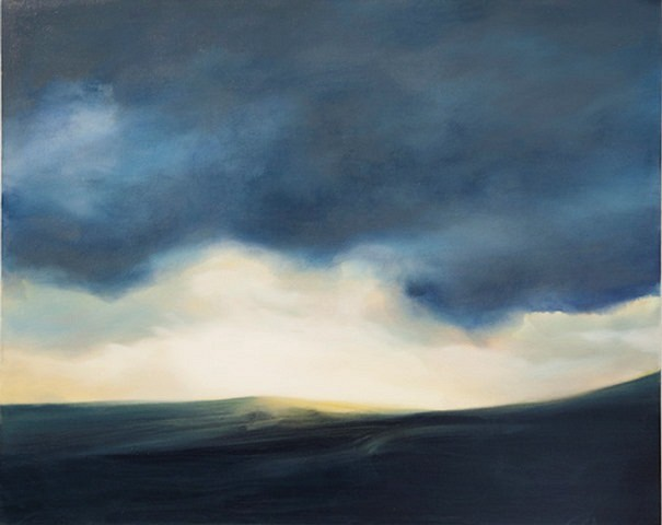 Andrea M.J. Toth, Northumberland Dusk 2010, oil on canvas