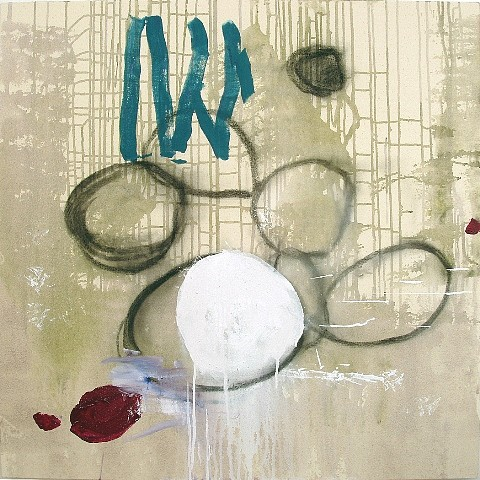 Tom Savage, Voices 2011, mixed media on canvas