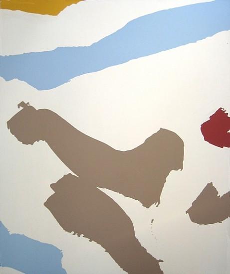 Robert Linsley, Island Figures #1 2011, enamel on canvas