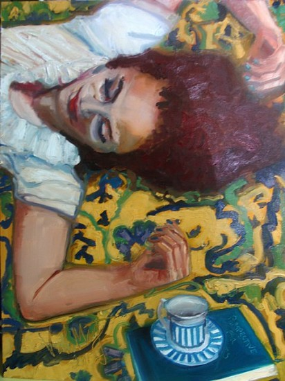 Viola Moriarty, Nicole 2012, oil on board