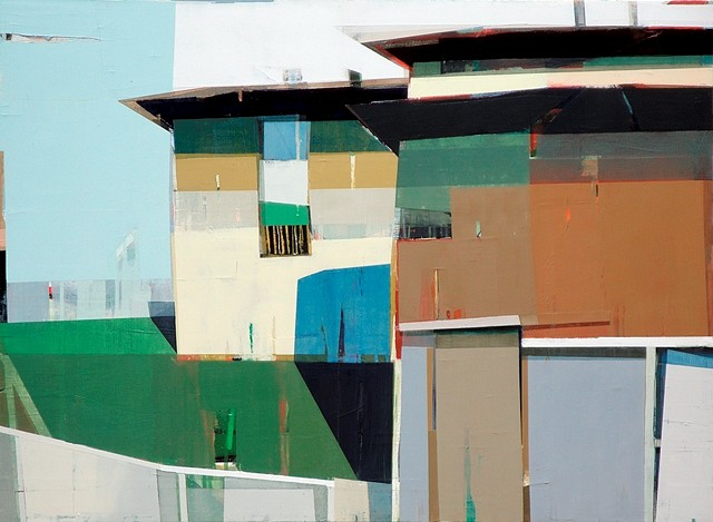 Siddharth Parasnis, Two Stories House With a Backyard 2011, oil on canvas