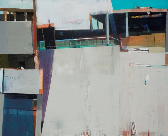 Siddharth Parasnis, Cityscape 2012, oil on canvas