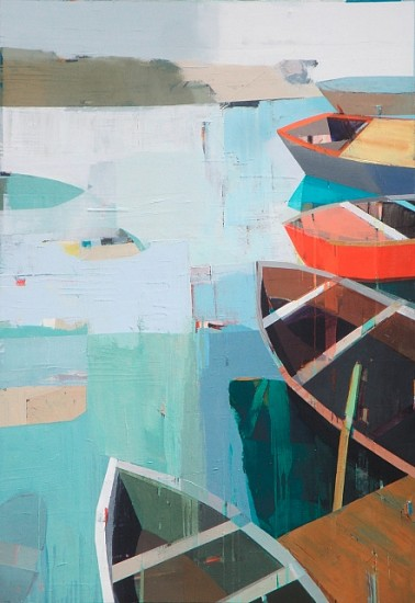 Siddharth Parasnis, Boats in the Shallow Water #4 2012, oil on canvas