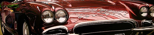 Cheryl Kelley, Little Red Corvette 2011, oil on aluminum panel