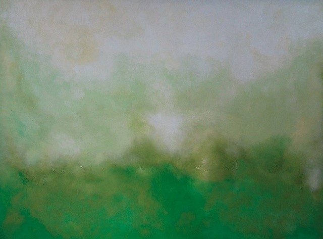 Julie Hedrick, Green Beginning, Light Rising 2012, oil on canvas