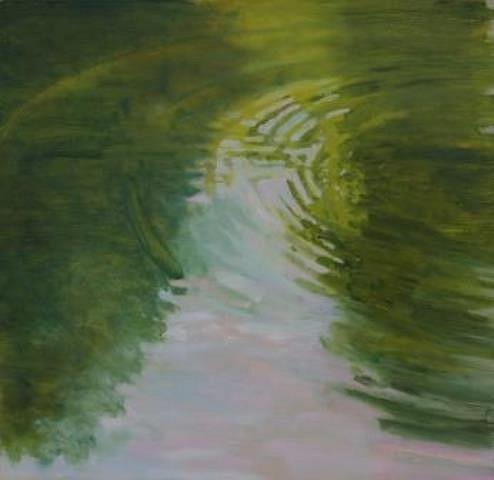 Gwendolyn Kerber, Pink Water Rings 2011, oil on canvas