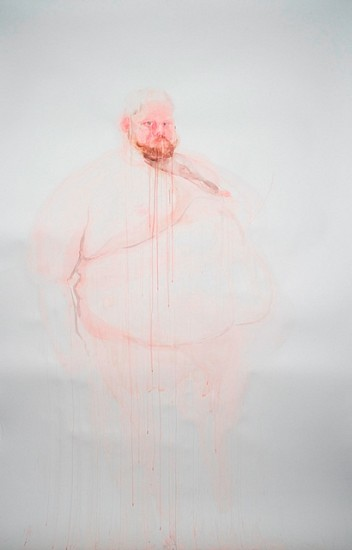 Brian Murphy, Invisible Self-Portrait 2005, watercolor on paper