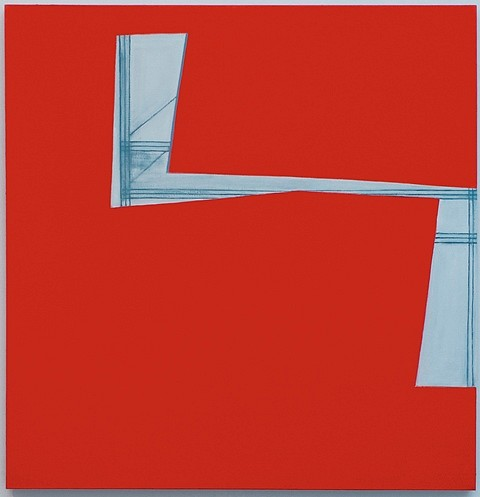 Paul Pagk, Red Insertion 2009, oil on linen