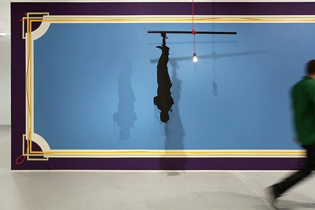 Lars Morell, Symbolic Order 2011, steel, aluminium, cable, lightbulb