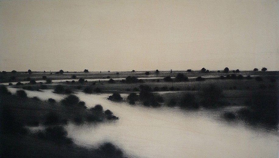 Nicolas Poignon, Water and Emptiness 2012, charcoal on paper