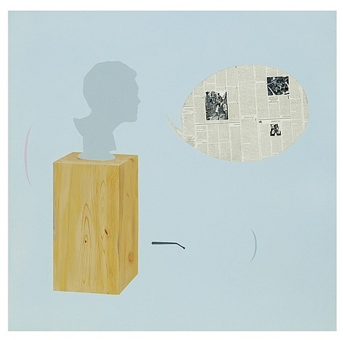 Jayanta Roy, I lost my glasses 2008, acrylic and photo transfer on canvas