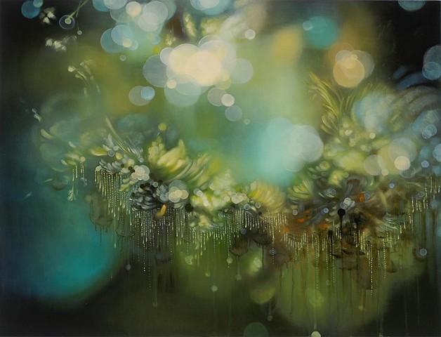 Jenn Shifflet, Anicca 2011, acrylic and oil on panel