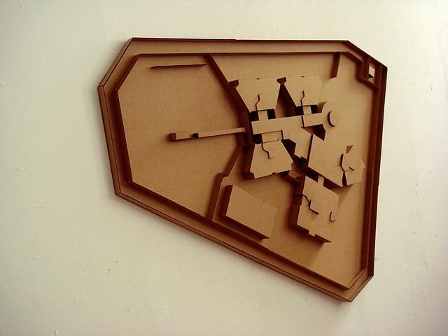 Michael Ashkin, Plaza (No. 1) 2009, cardboard
