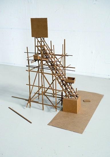Michael Ashkin, Untitled (Empty Podium) 2011, cardboard