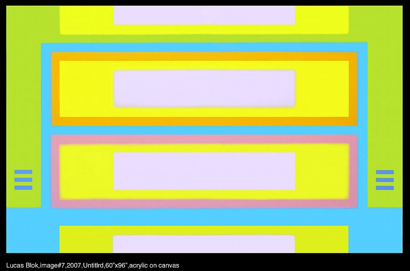 Lucas Blok, Untitled 2007, acrylic on canvas