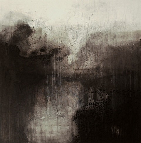 Helen Booth, The Clearing 2009, ink, graphite and charcoal on canvas