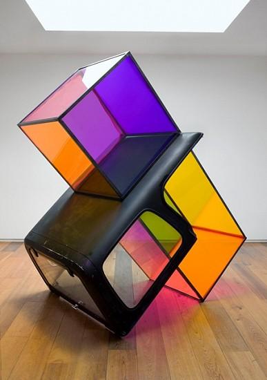 Sarah Braman, Teenage Spaceship 2010, truck cap, steel, plexiglass, paint