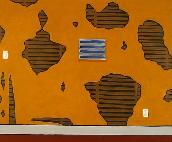 Rick Briggs, Through the Cracks, #2 2011, oil on canvas