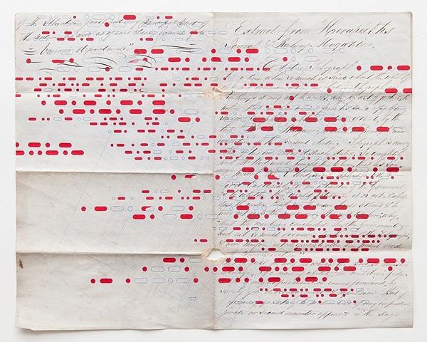 Douglas Navarra, Telegraph Extract 2010, gouache and ink