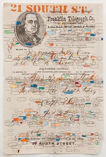 Douglas Navarra, Telegram 2010, gouache and ink
