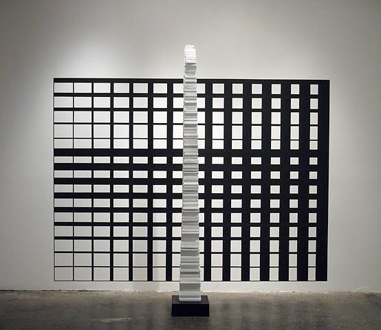 Brendan Lott, An Attempt to Reverse Entropy 2011, tape, paint, wood