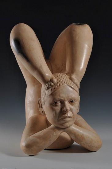 Kukuli Velarde, India Patarrajada (PLUNDER ME, BABY Installation/ Series) 2009, white clay, wax, casein paint