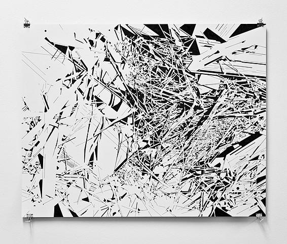 Margaret Inga Wiatrowski, Aberrations: No.16 2012, ink on paper
