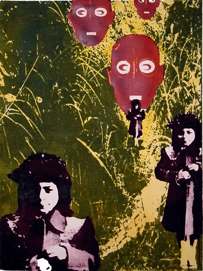 Christina Maile, Mouth of Myths 2012, litho ink on paper