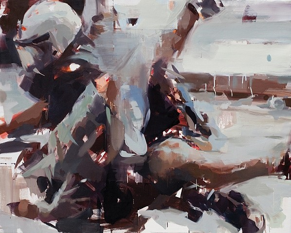 Jerome Lagarrigue, The Arrest 2012, oil on linen