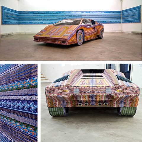 Ghost of a Dream, Dream Ride 5,6,7 2010, wood, plexiglass, and discarded lottery tickets with UV coat