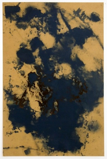 Ryan Foerster, The Sky is Falling printing plate 2012, dirt chemicals on aluminum