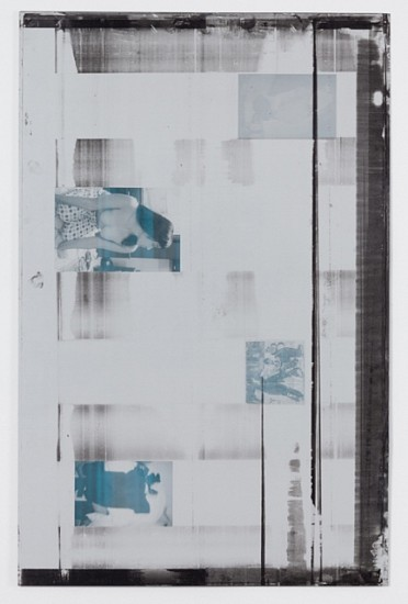 Ryan Foerster, Hockey printing plate 2011, ink and paint on aluminum