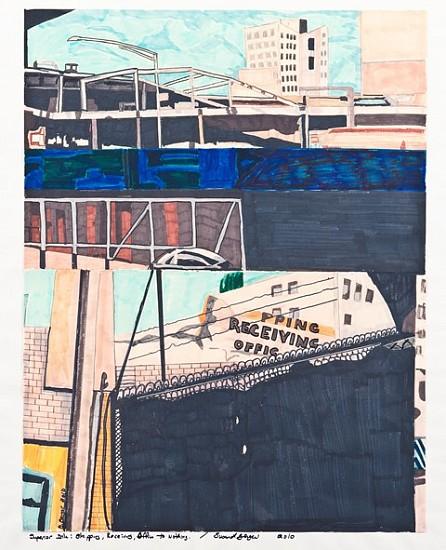 Susan Berger, Superior Ink Draped for Destruction: In Sketch 2009, fiber construction