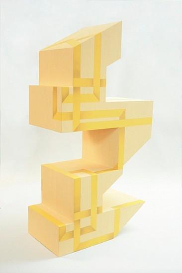 Rachel Beach, Yoke 2012, acrylic and enamel on veneered plywood