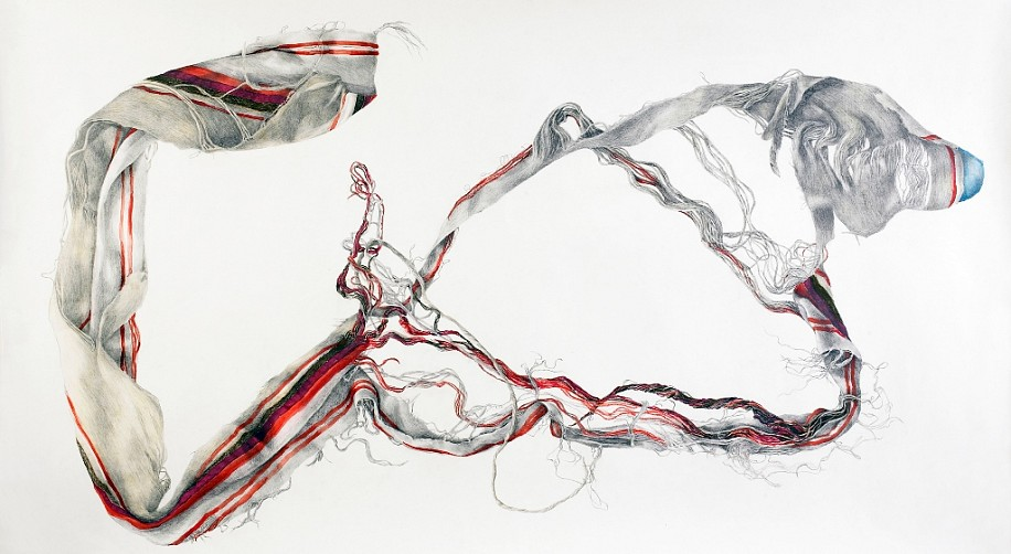 Z Behl, Navajo 2010, gouache and graphite on paper