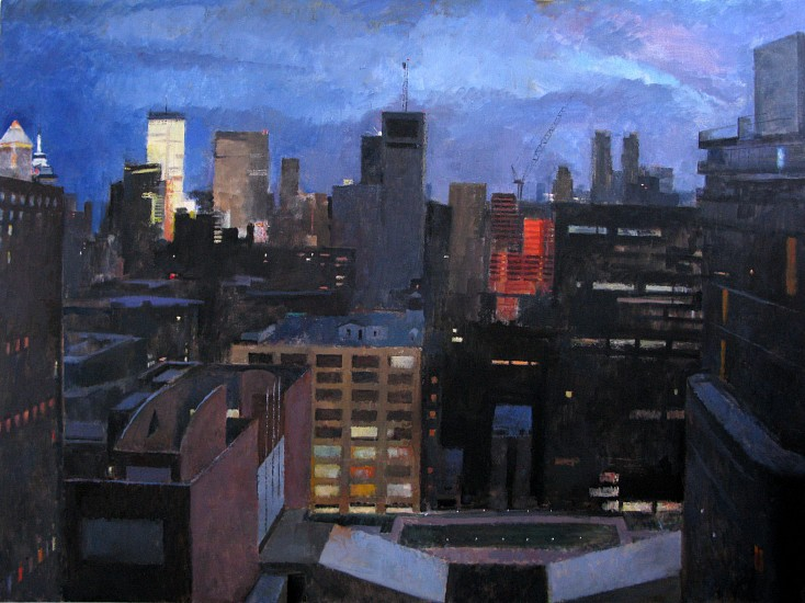Peter Colquhoun, Deck, South View 2011, oil on linen