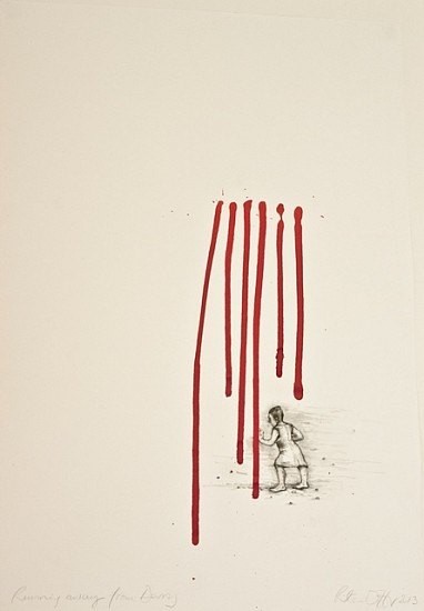 Rita Duffy, Running Away from Derry 2013, pencil and ink on paper