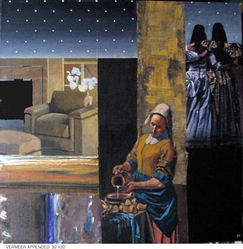 John Howard, Vermeer Appended 2008, acrylic on canvas
