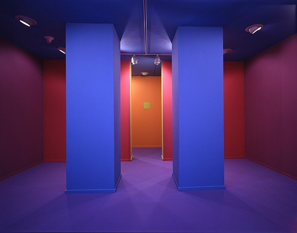 Lucas Blok, Installation Monterey Museum of Art, Coburn Gallery 1999, acrylic on floors, walls and ceiling