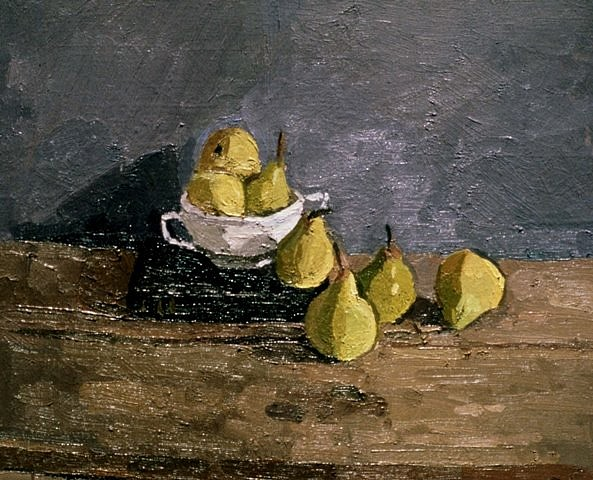 Robert Sosner, Still Life with Pears 1988, oil on canvas