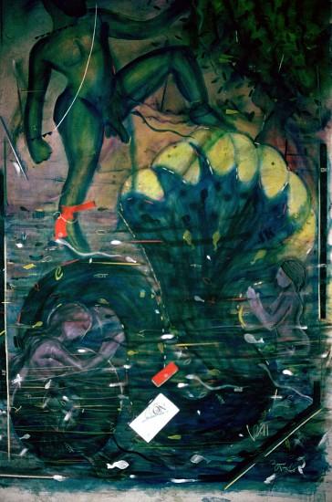 Vinod Dave, Kalia Daman 1992, 96 x 70 inches