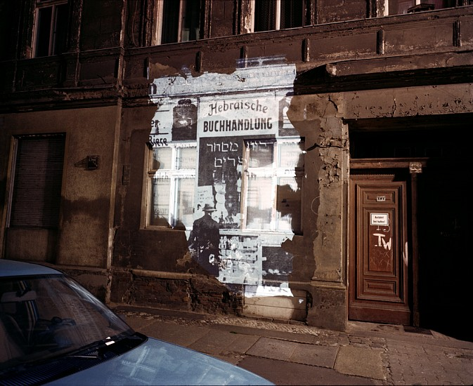 Shimon Attie, Slide Projection of Former Hebrew Bookstore