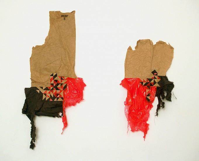 Scott Andresen, Untitled 2009, found materials, thread