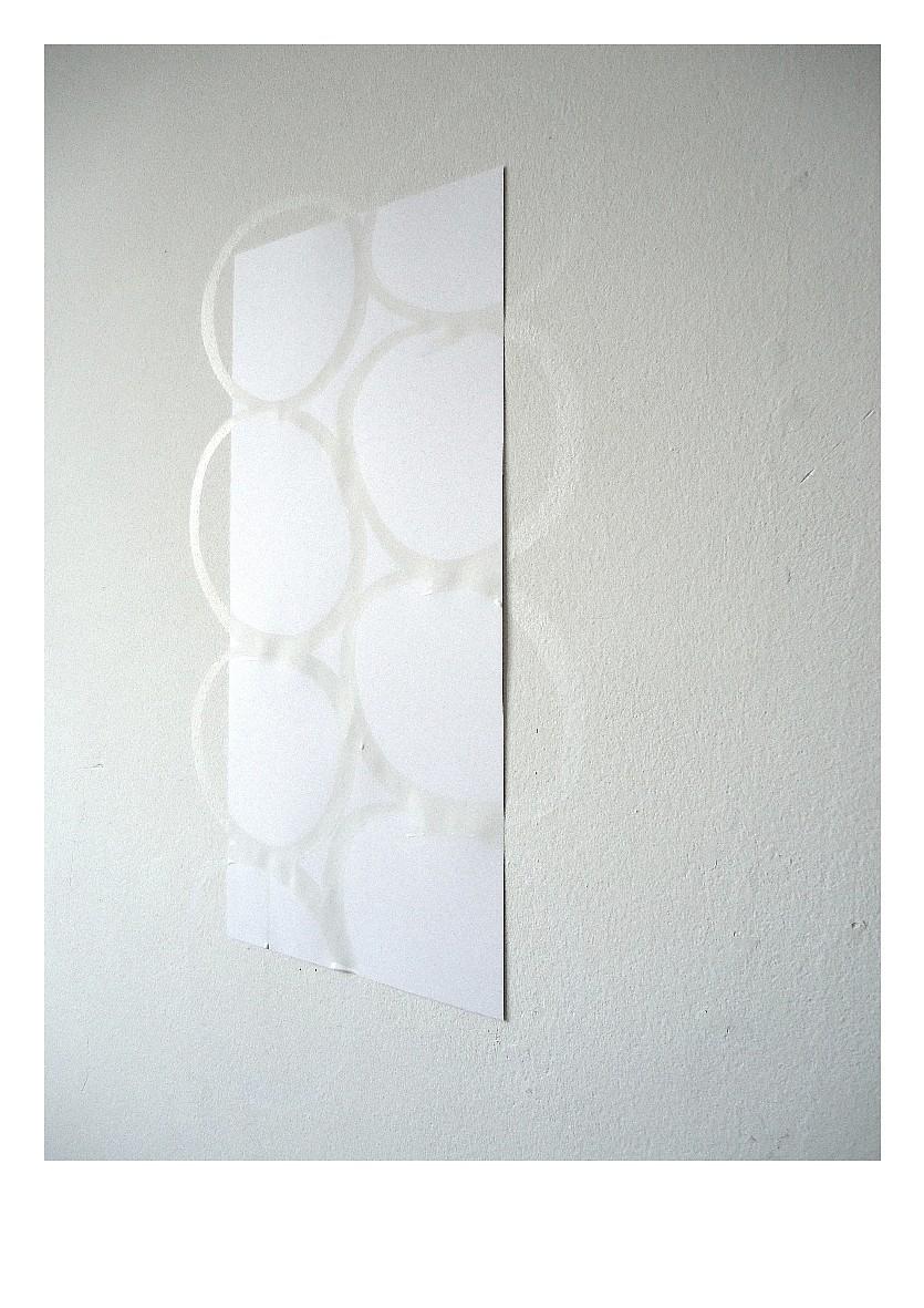 Ruth baumann 2011 paper white indian ink wall 62 x 30 cm