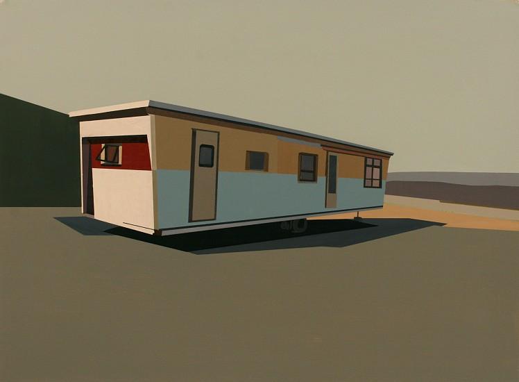 Mark Bradley-Shoup, Dwelling in Phlox Blue Sky 2011, oil on paper