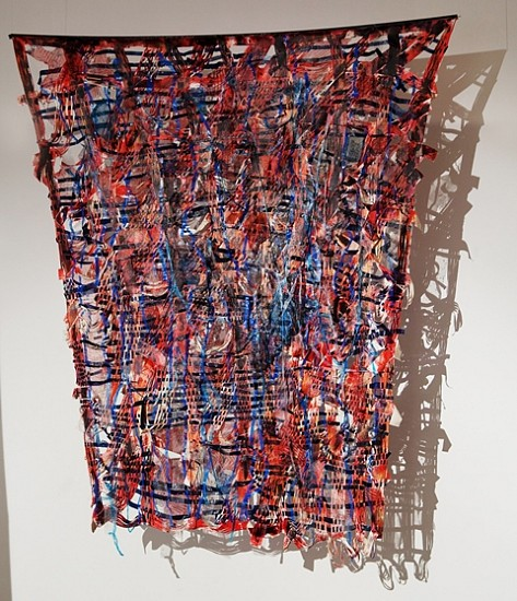 Boshudhara Mukherjee, Red Dragon 2009, mixed media on canvas